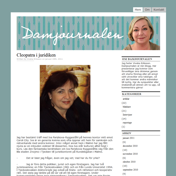 Damjournalen (WordPress)